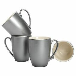 Grey Glossy Finish 10 ounce New Bone China Coffee Cup Mugs S