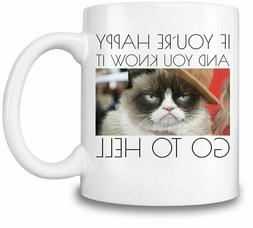 Grumpy Cat 'if you're happy and you know it - go to hell' Co
