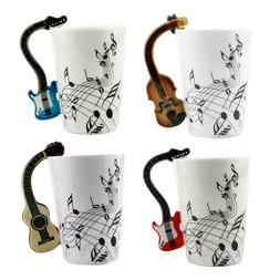 Guitar Music Note Coffee Cup Milk Mug Creative Ceramic Cups