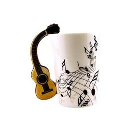 Funny Guitar Personality Music Note Cup Ceramic Coffee Tea M