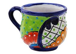 Handcrafted Ceramic Coffee Mugs, Hand painted, Colorful desi