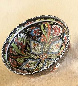Wind & Weather AC5434-BK Handcrafted Turkish Salad Bowl, Bla