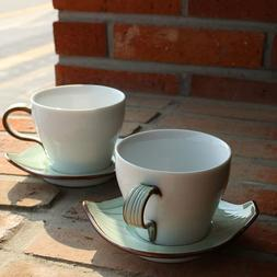 ZAKISOVOM Handmade Ceramic Porcelain Classic Coffee and Tea