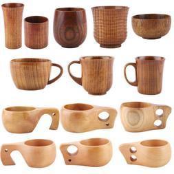 Handmade Natural Solid Wood Tea Cup Wooden Wine Coffee Water