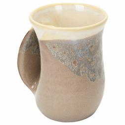 Clay In Motion Handwarmer Mug - Desert Sand Right Handed by