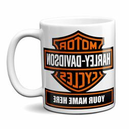 HARLEY DAVIDSON MOTORCYCLE PERSONALIZED COFFEE MUG MADE IN T