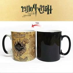 Harry Potter Map Hot Cold Color-Changing Coffee Milk Mug Cup