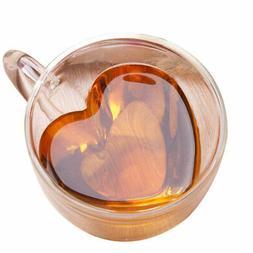 Heart-Shaped Home Coffee Cups & Mugs Mug,Double-Wall Insulat