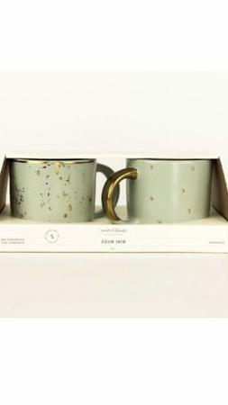Hearth and Hand Magnolia Mini Coffee Mug Set of 2 Speckled L