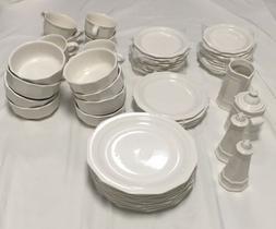 Pfaltzgraff Heritage White Porcelain Dinnerware Set of 48 -