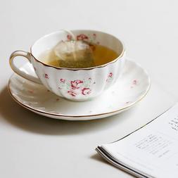 High Quality Ceramic <font><b>Cup</b></font> Saucer Floral P