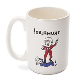 Mugs Funny Hillary Being Trumpled by Trump Ceramic Mug, 14-O