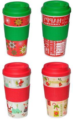 Holiday Christmas Travel 16 oz assorted  Christmas designs s