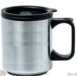 Home Travel Mug Reusable Plastic Coffee Cup Double Wall Tea