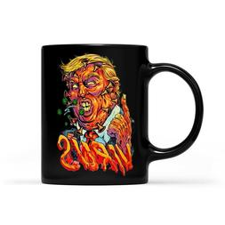 Horror Trump Virus Halloween Black Mug