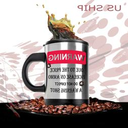 HOT & Cold  Double Insulated Self Stirring Funny Joke Mug El