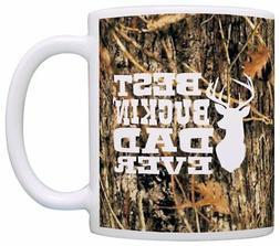 Hunting Camo Best Buckin' Dad Ever Gift Coffee Mug Tea Cup C