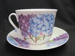 HYDRANGEA, FINE BONE CHINA  BREAKFAST CUP SAUCER, ROY KIRKHA