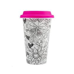 Color Joy I Am Not A Paper Cup, Travel Coffee Mug Geo Sphere