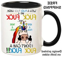 I Don't Give A F&ck F&ck, Funny Unicorn 11oz Coffee/Tea Cup