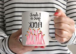 I don't give a flock Mug Funny Coffee Mug Flamingo Mug Pink