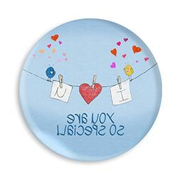 Children's I Love You Birds Melamine Plate, You Are Special,