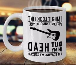 I'm Playing My Guitar Coffee Mug Funny Guitarist Mugs for Gu