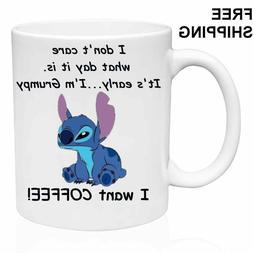 bf0738caa84 I want COFFEE!, Lilo & Stitch, 11oz - ...
