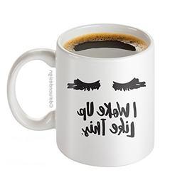 I Woke Up Like This Mug - Lash Extensions Mug - Lashes I Wok
