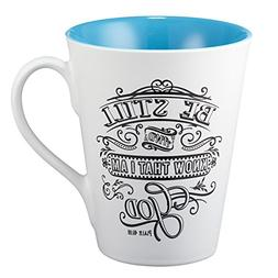 """Illustrated Scripture Mug: """"Be Still And Know That I Am God"""""""
