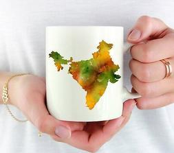 india coffee mug india lover gift watercolor