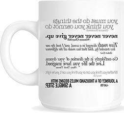 Inspirational Quotes 11oz. Ceramic Coffee Mug - White Mug -