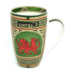 Irish Bone China Coffee Mug  Welsh Dragon Design 11 fl oz