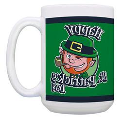 Irish Coffee Mugs for Men Happy Leprechaun Funny St 15oz Cof