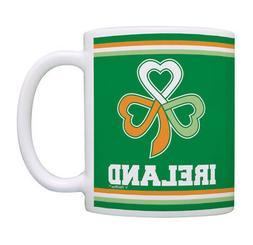 Irish Coffee Mugs for Men Ireland Flag Gaelic Knots Funny St