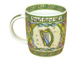 Irish Harp Mug Celtic Weave Bone China 11 fl oz Home Blessin