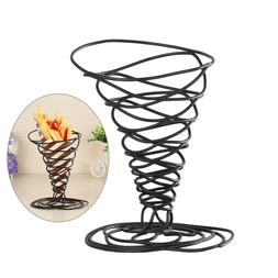 Iron French Fry Holder Fries Cone Basket Stand Chips Snacks