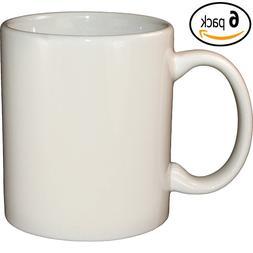 ITI Ceramic C-Handle Coffee Mugs with Pan Scraper, 10 Ounce