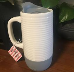 Ello Jada Gray Ceramic Travel Coffee Car Work Mug Sealed Spl