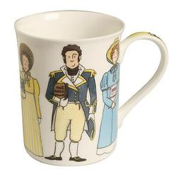 Jane Austen Character Mug - Handmade Bone China Coffee Cup H