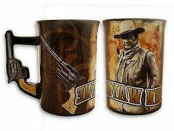 John Wayne Mug With Pistol Handle