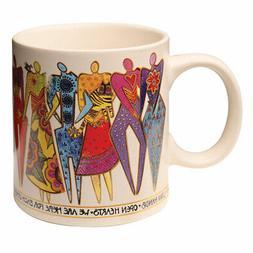 Laurel Burch Join Hands Mug - Women in Solidarity Coffee Cup