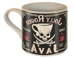 Jolly Roger Java Skull and Swords Coffee Mug - Ceramic Mug b