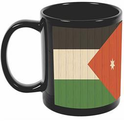 Rikki Knight Jordan Flag on Distressed Wood Design 11 oz Pho