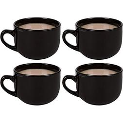 Large Jumbo Ceramic 22oz Mugs for Cappuccino, Coffee, Latte,