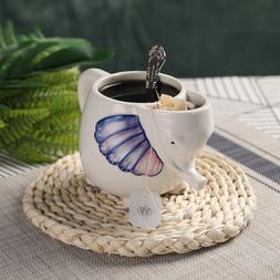 PULCHRITUDIE Jumbo Figural Ceramic Coffee Tea Mug, Hand Pain