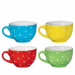 Jumbo Soup Bowl and Cereal Mugs Wide Ceramic Mug Set of 4, 2