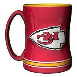 Kansas City Chiefs Coffee Mug Relief Sculpted Team Color Log