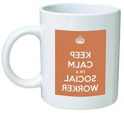 Keep Calm I'm A Social Worker Coffee Mug Great Office Novelt