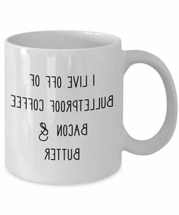 Keto Mug Funny Keto Mug Keto Af Mug Bulletproof Coffee Bacon